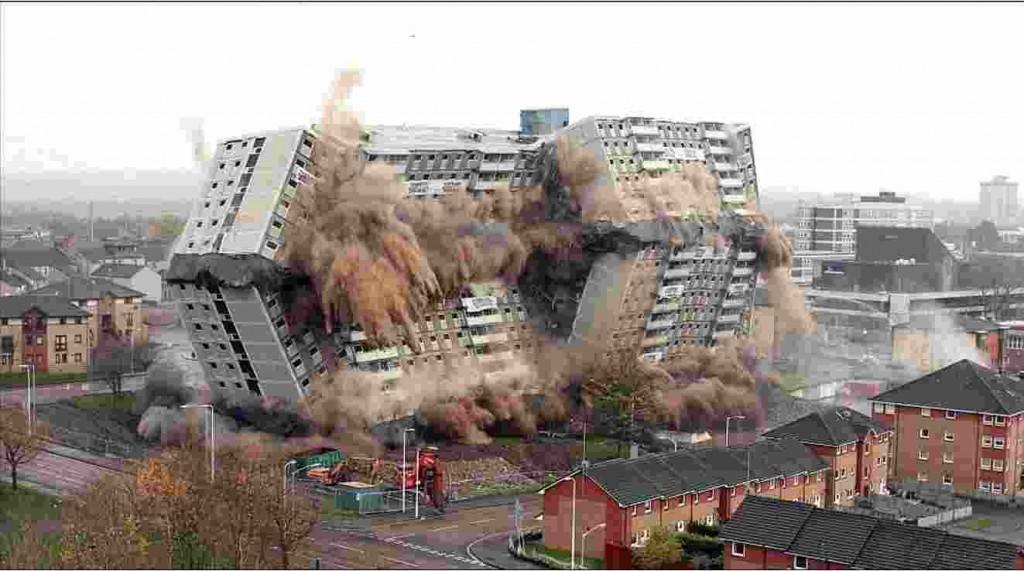 демонтаж направленным взрывом