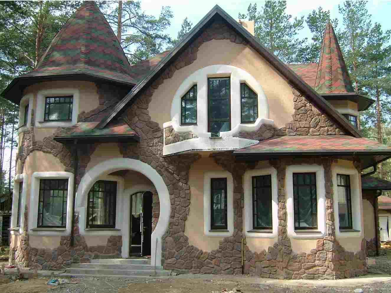 фасад из искусственного камня