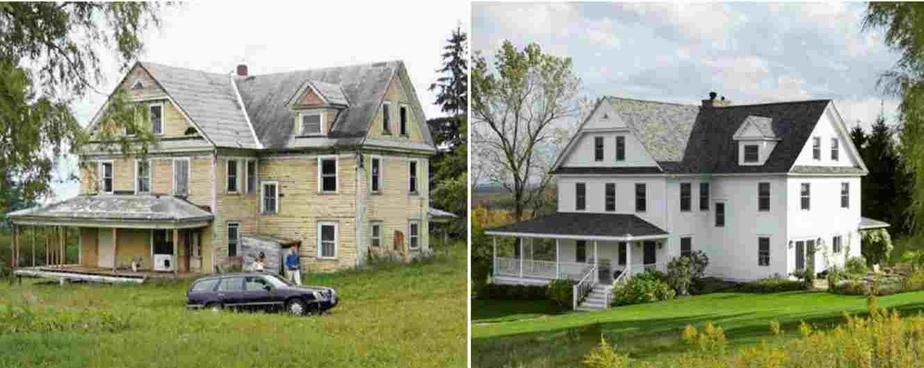 фасад дома до и после отделки